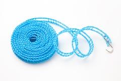 Błękitny plastikowy clothesline Obraz Royalty Free