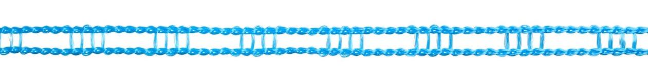Błękitny plastikowy clothesline Obrazy Stock