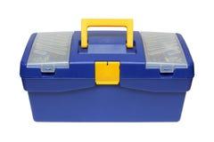 błękitny plastikowy toolbox Fotografia Stock