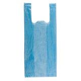 Błękitny plastikowy worek Zdjęcie Royalty Free