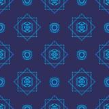 błękitny plemienna tapeta Obrazy Stock