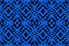 Błękitny plemienny kształta wzór Zdjęcie Stock