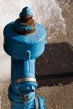 błękitny pożarniczy hydrant Obrazy Stock