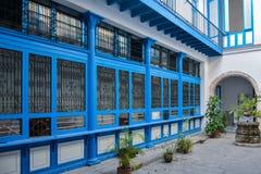 Błękitny podwórze, Hawański Kuba obraz royalty free