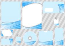 błękitny pojęcia korporacyjnego projekta promienia szablon Zdjęcie Royalty Free