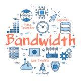 Błękitny pojęcie Bandwidth royalty ilustracja