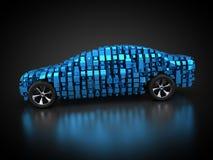 Błękitny pojazd z abstrakcjonistycznym carbody ilustracji