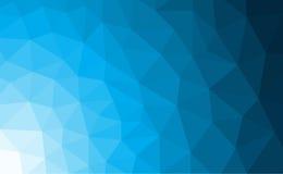 Błękitny poligonalny mozaiki tło z gradientem Obraz Stock