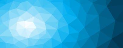 Błękitny poligonalny mozaiki tło z gradientem Zdjęcia Stock
