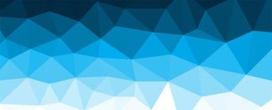 Błękitny poligonalny mozaiki tło z gradientem Zdjęcia Royalty Free