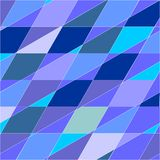Błękitny poligonalny wektorowy tło Zdjęcie Stock