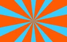 Błękitny pomarańczowy promienia tła wizerunek Fotografia Royalty Free