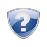 błękitny pomoc ikony osłona Zdjęcie Royalty Free