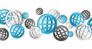 Błękitny popielaty i czarny cyfrowy sieci ikon '3D rendering' Zdjęcie Stock