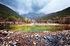 błękitny porcelanowa lijiang księżyc dolina Zdjęcie Royalty Free