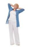 błękitny portreta starszy koszulowy ja target2881_0_ Obraz Royalty Free