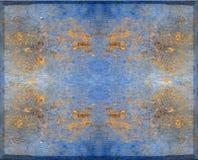 błękitny projekta złocisty panel obraz royalty free