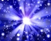 Błękitny promieniowy abstrakcjonistyczny tło Zdjęcie Royalty Free