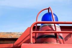 błękitny przeciwawaryjny oświetleniowy pojazd obraz stock