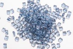 Błękitny przejrzysty polimeru żywica obraz royalty free