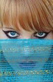 błękitny przesłona zdjęcie stock