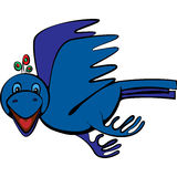 Błękitny ptak Obrazy Royalty Free