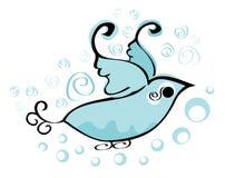 Błękitny ptasi logo Fotografia Royalty Free