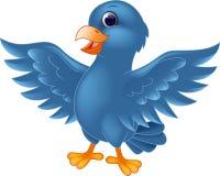 Błękitny ptasia kreskówka Fotografia Royalty Free