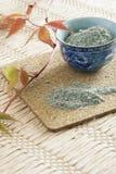 błękitny pucharu gliny target501_0_ porcelana Zdjęcie Royalty Free