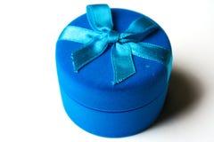 błękitny pudełka ciemny taśmy aksamit Zdjęcie Stock