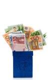 błękitny pudełka zmroku euro Obraz Royalty Free