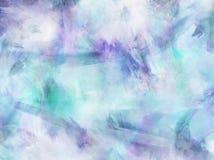 Błękitny Purpurowy akwarela papieru tło Obrazy Royalty Free