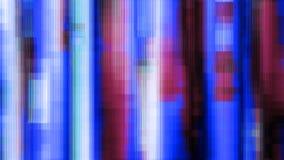 Błękitny Purpurowy hałas Zniekształcający Wykłada Cyfrowego Abstrakcjonistycznego tło Zdjęcie Royalty Free