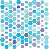 Błękitny Purpurowy Heksagonalny wzór Zdjęcie Royalty Free