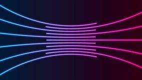 Błękitny purpurowy neonowy laser wykłada technika ruchu tło ilustracji