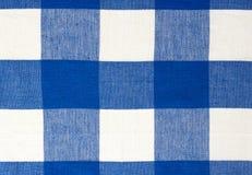 Błękitny pykniczny sukienny tekstylny tło Zdjęcia Stock