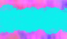 Błękitny, różowy i purpurowy akwarela sztandaru tło, Zdjęcia Stock