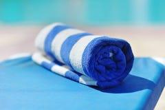 Błękitny ręcznik Obraz Stock