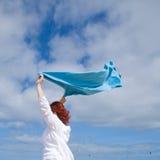 błękitny ręcznik Fotografia Royalty Free