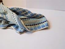 Błękitny ręcznik na białym tle Fotografia Stock