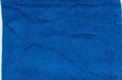 Błękitny ręcznik z edge1 Fotografia Stock