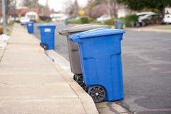 błękitny recyclables Obraz Stock