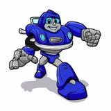 Błękitny robot robot kreskówka - roboty dla dzieciaków - ilustracji