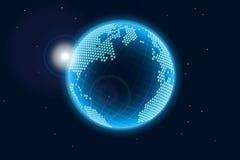 Błękitny rozjarzona Ziemia Zdjęcia Royalty Free