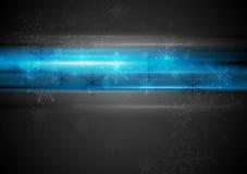 Błękitny rozjarzony lekki Bożenarodzeniowy tło Zdjęcia Stock
