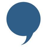 błękitny rozmowa bąbel ilustracja wektor