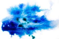 błękitny, rozmyty punkt akwareli farba, Tło royalty ilustracja