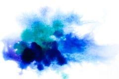błękitny, rozmyty punkt akwareli farba, Tło ilustracji