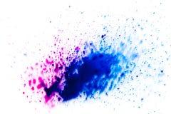 błękitny, rozmyty punkt akwareli farba, Tło ilustracja wektor