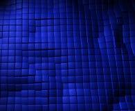 Błękitna rzemienna sześcianu tła tekstura Fotografia Royalty Free